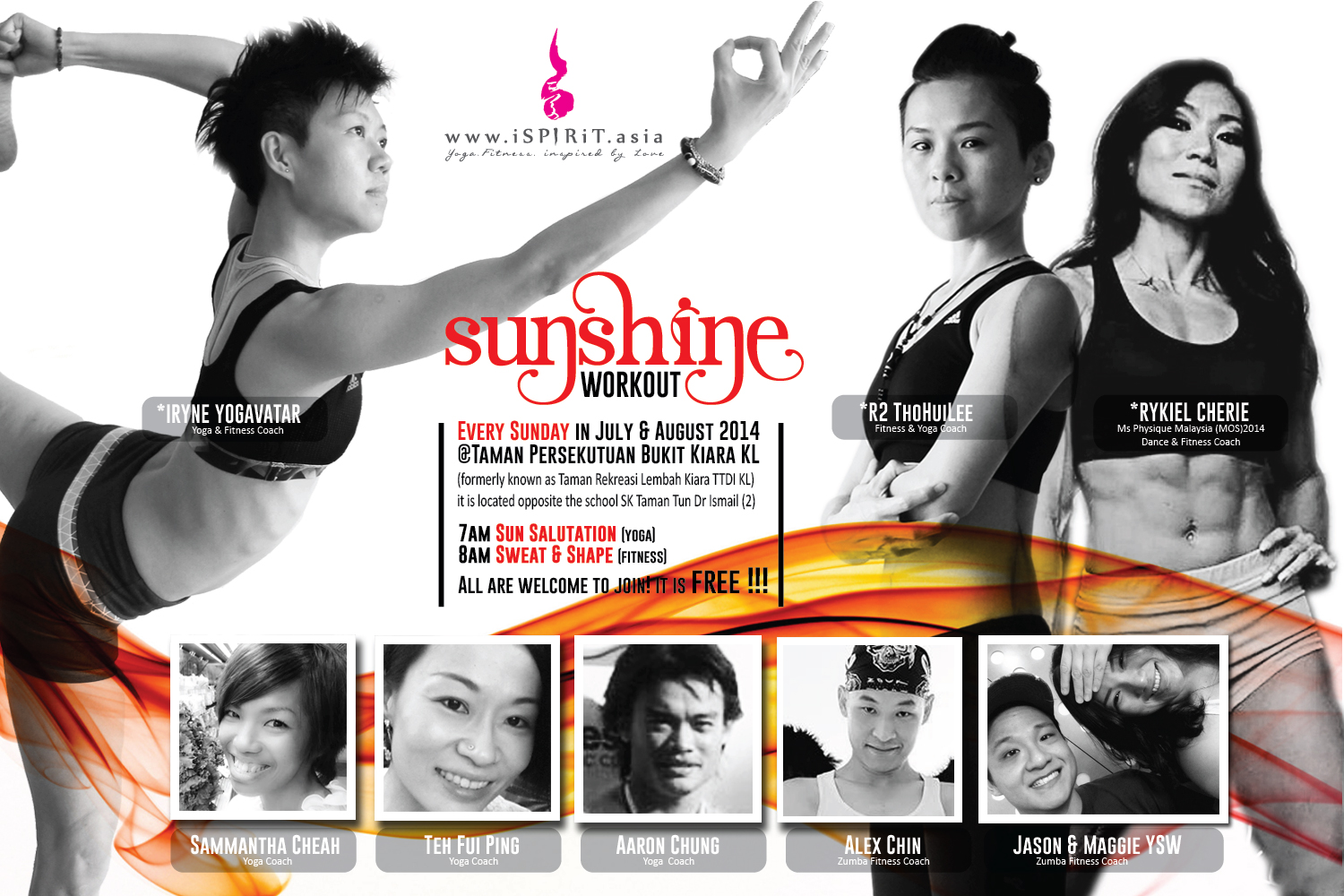 A poster 3x2 sunshine workout august v2