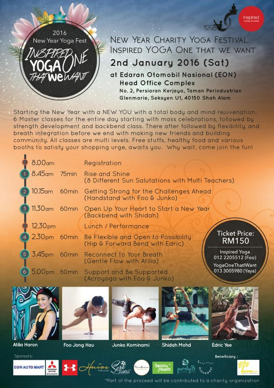 New Year Yoga Fest Poster 2016