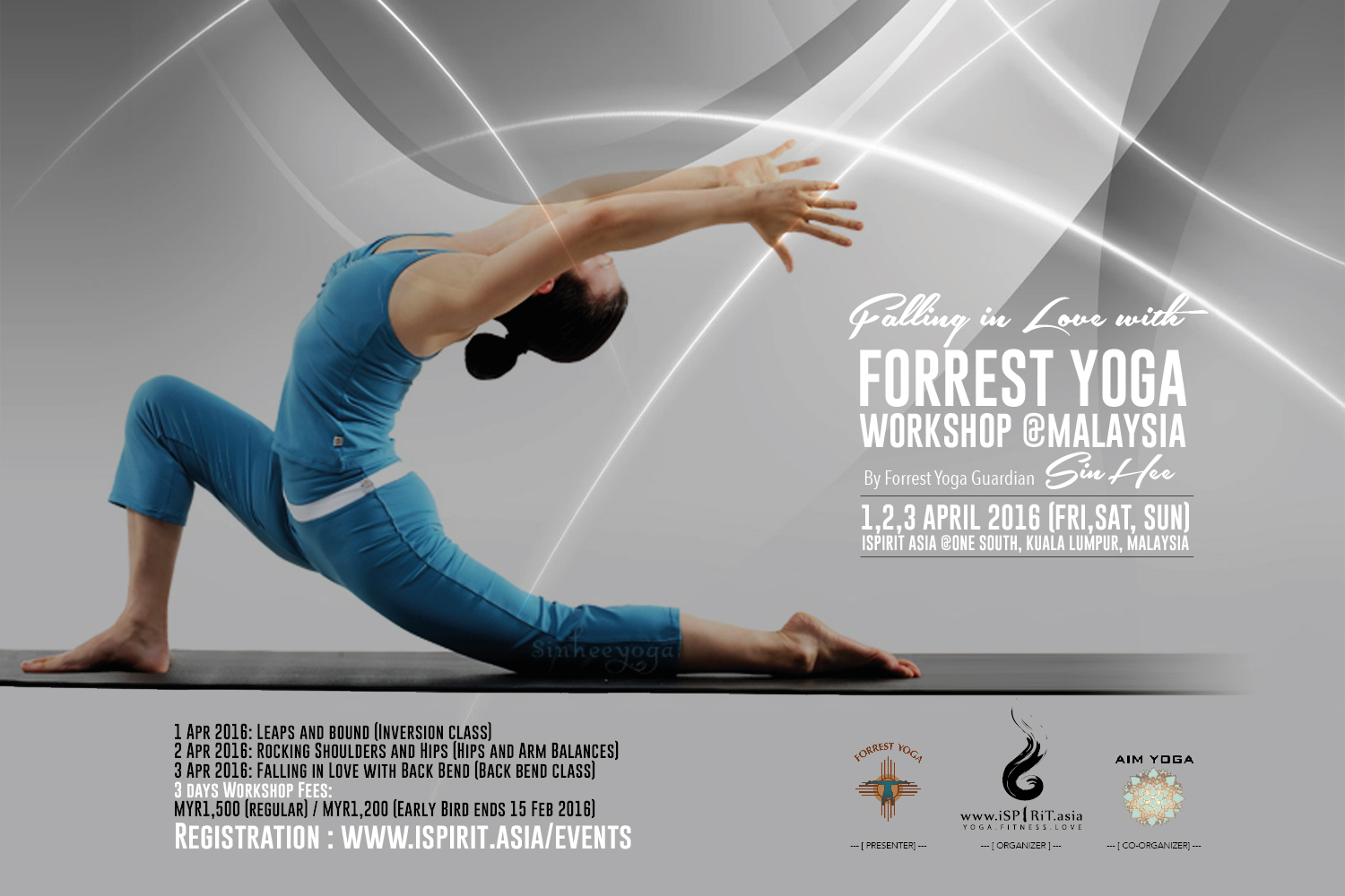 Forrest Yoga Workshop Malaysia by SinHee