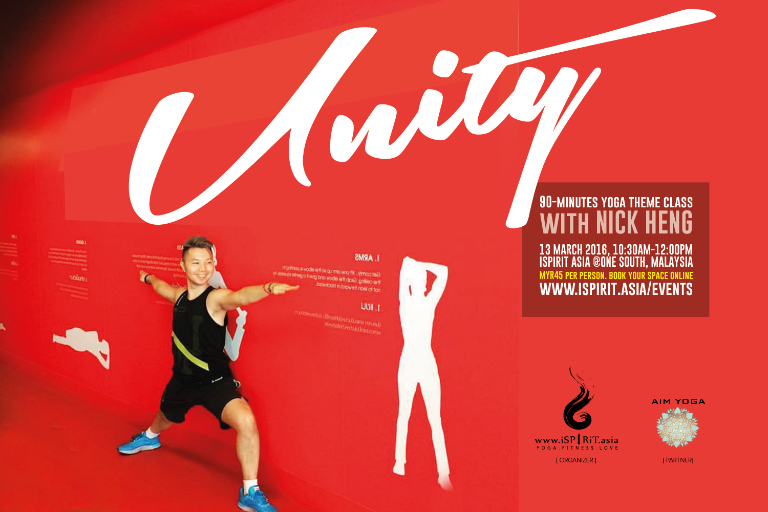 Poster Unity~ 90-minute Yoga Theme Class With Nick Heng