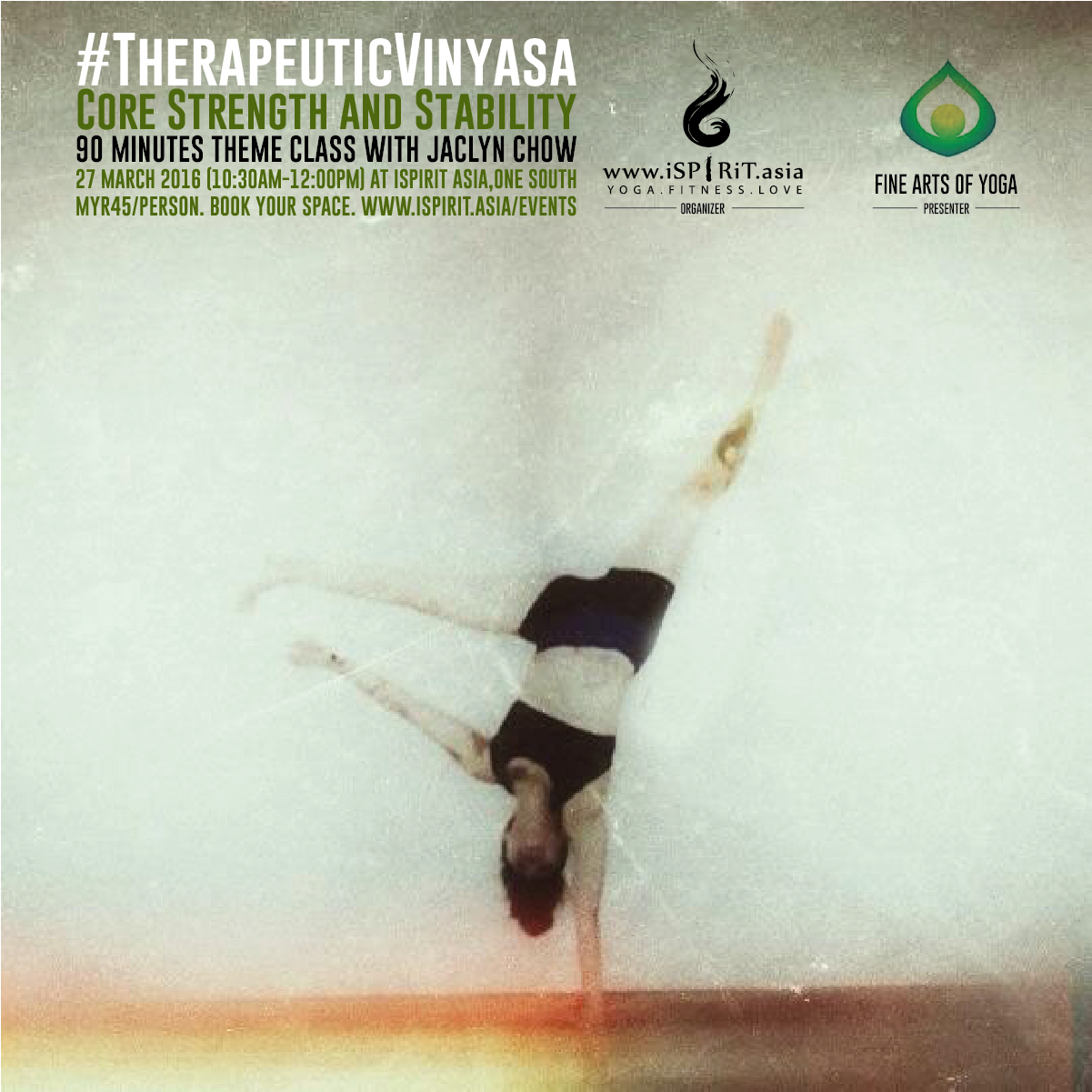 Therapeutic Vinyasa 'Core Strength and Stability' Poster v4