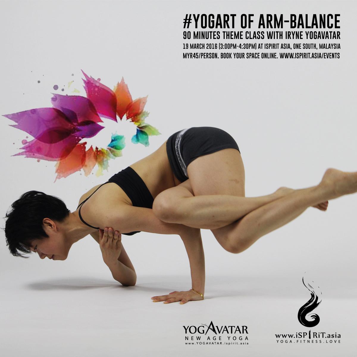 YOGART of arm balance: Theme class with iRyne Yogavatar poster v2