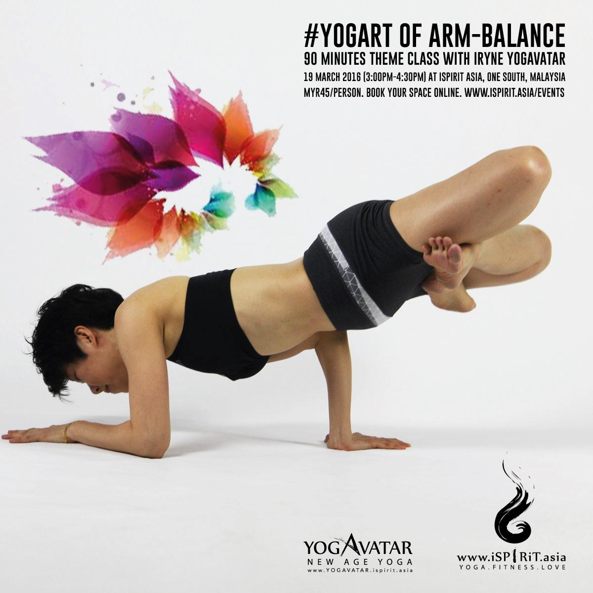 Yogurt Of Arm Balance with iRyne Yogavatar poster v3