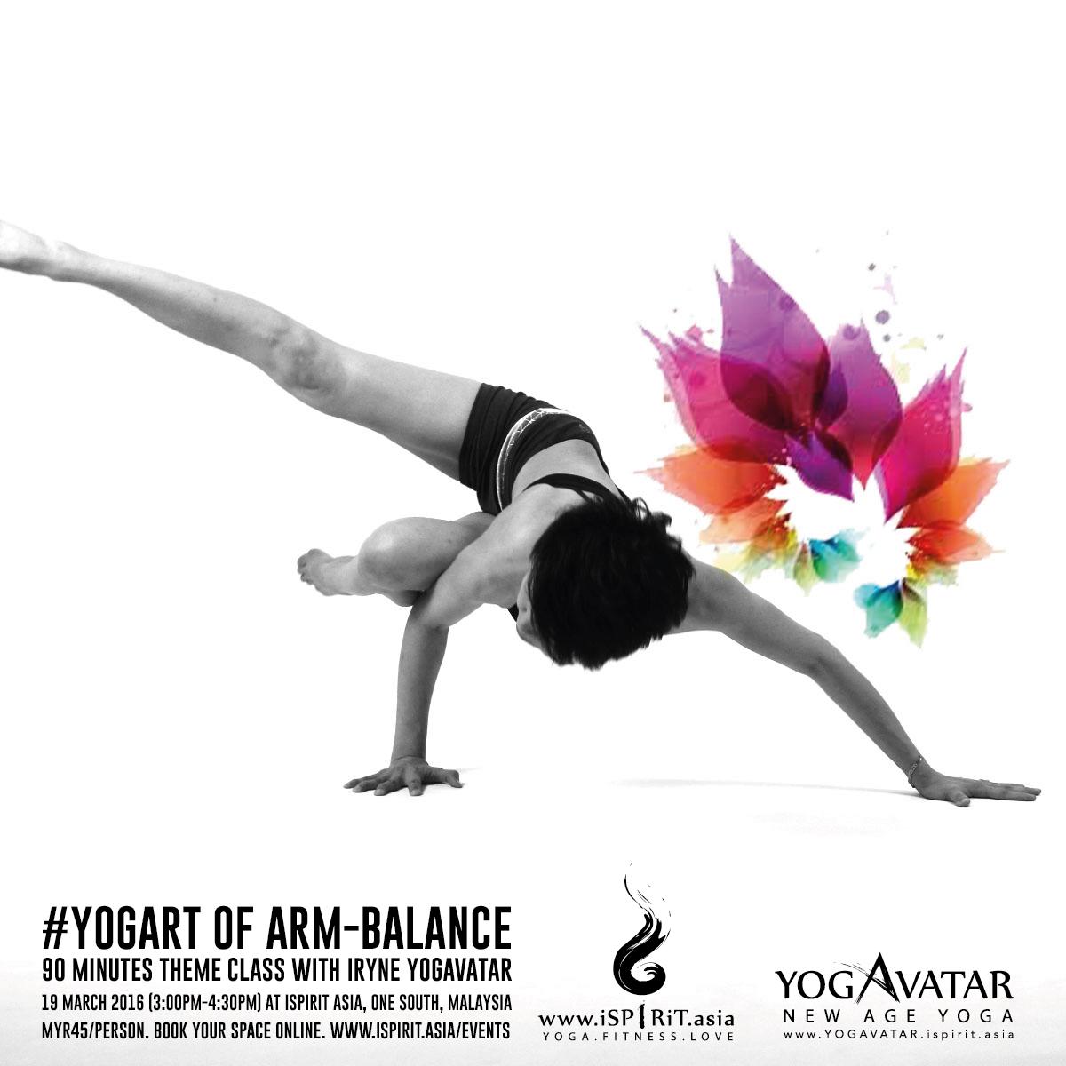 YOGART of Arm Balance with iRyne Yogavatar