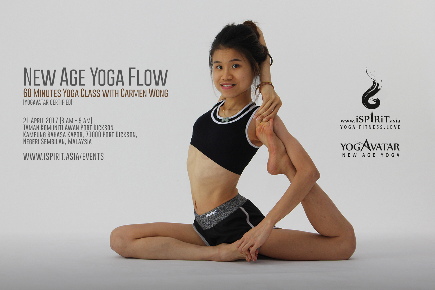 2017 04 21 New Age Yoga Flow With Carmen Wong 60 Minute Yoga Class In Malaysia Ispirit Asia