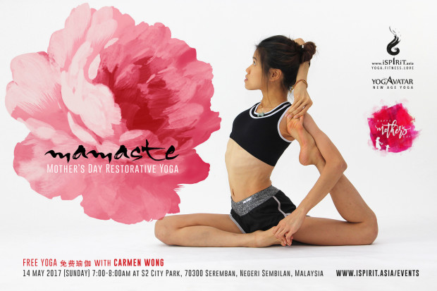 Mamaste Mother's day free yoga with Carmen Wong