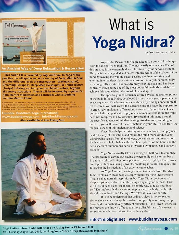 Yogi Amitram What is Yoga Nidra