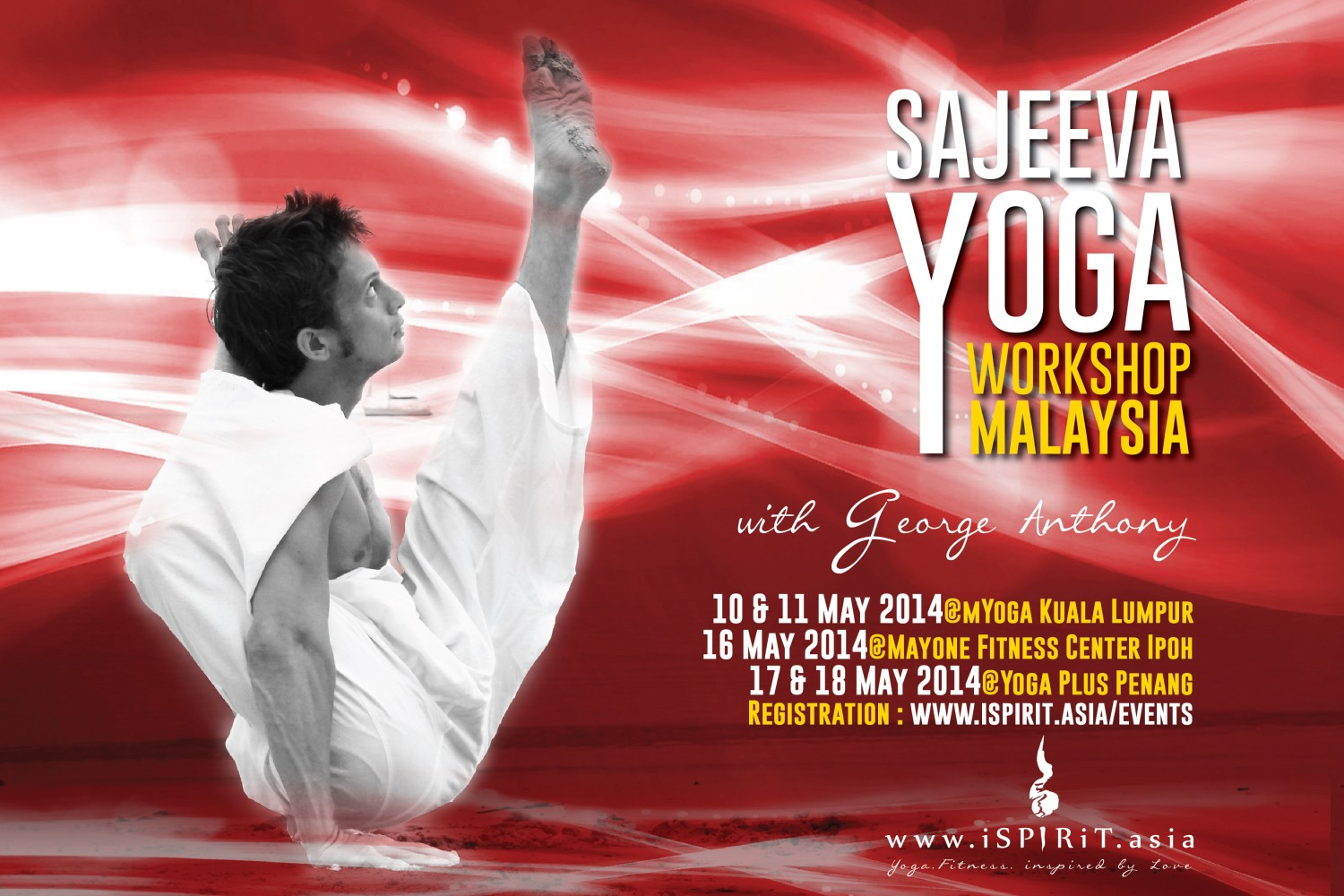 Poster Sajeeva Yoga Workshop in Malaysia George Anthony