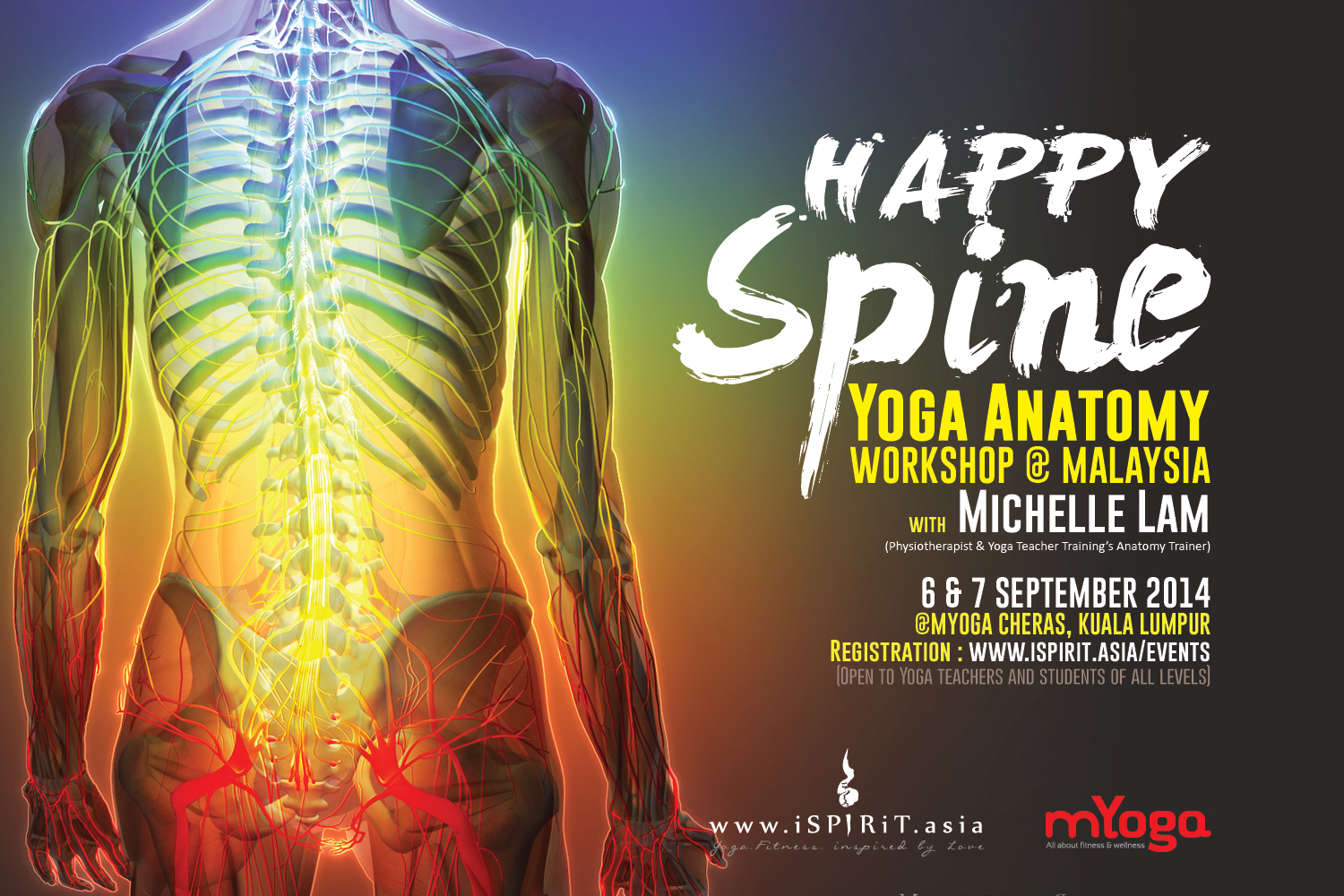 06&07 September 2014 @ Malaysia; Happy Spine~ Yoga Anatomy Workshop ...
