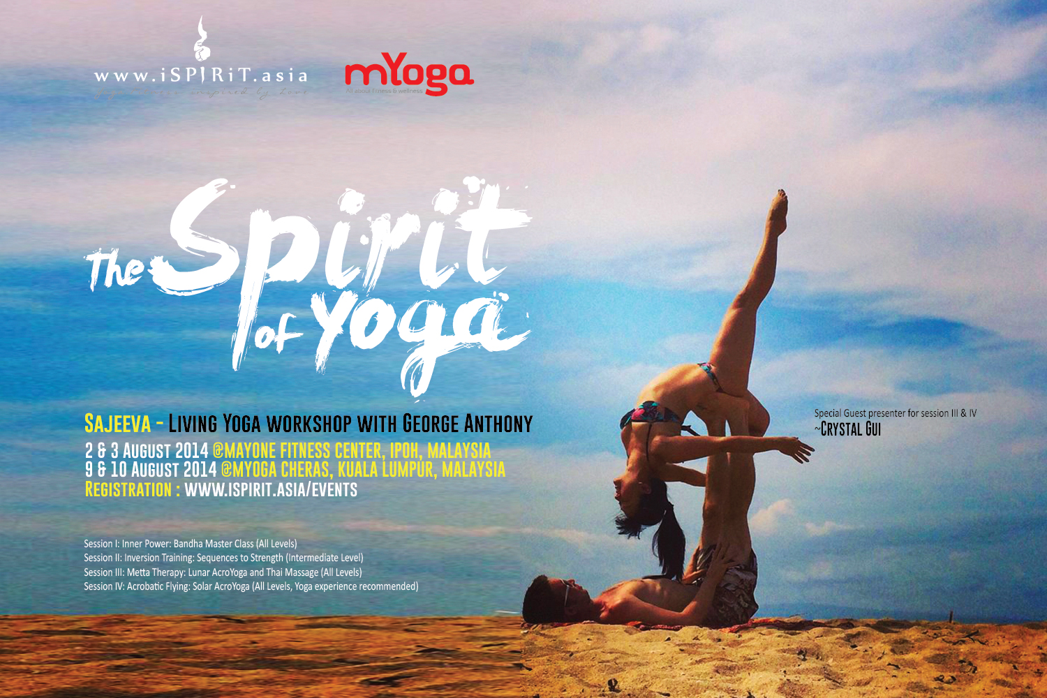 The Spirit Of Yoga Living Workshop With George Anthony IPOH