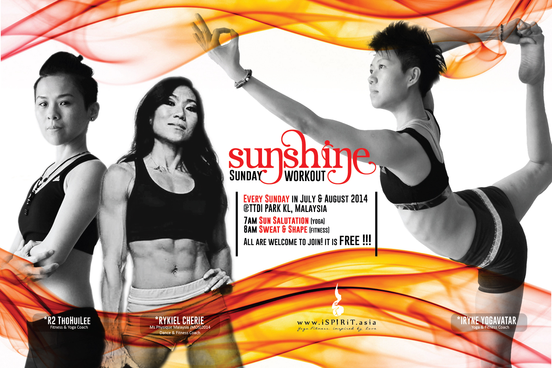 A poster 3x2 sunshine workout