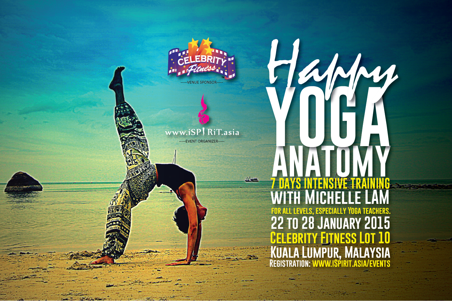 22 28 Jan 2015 Malaysia Happy Yoga Anatomy 7 Days Intensive Training
