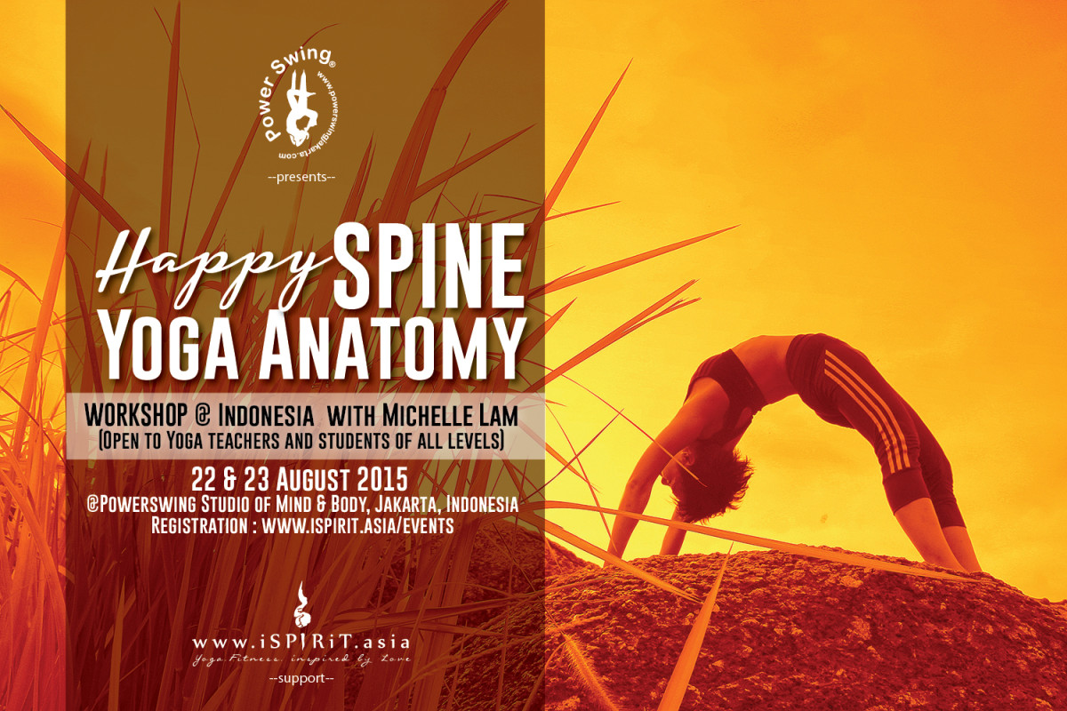 Happy Spine Yoga Anatomy Workshop @Jakarta Indonesia