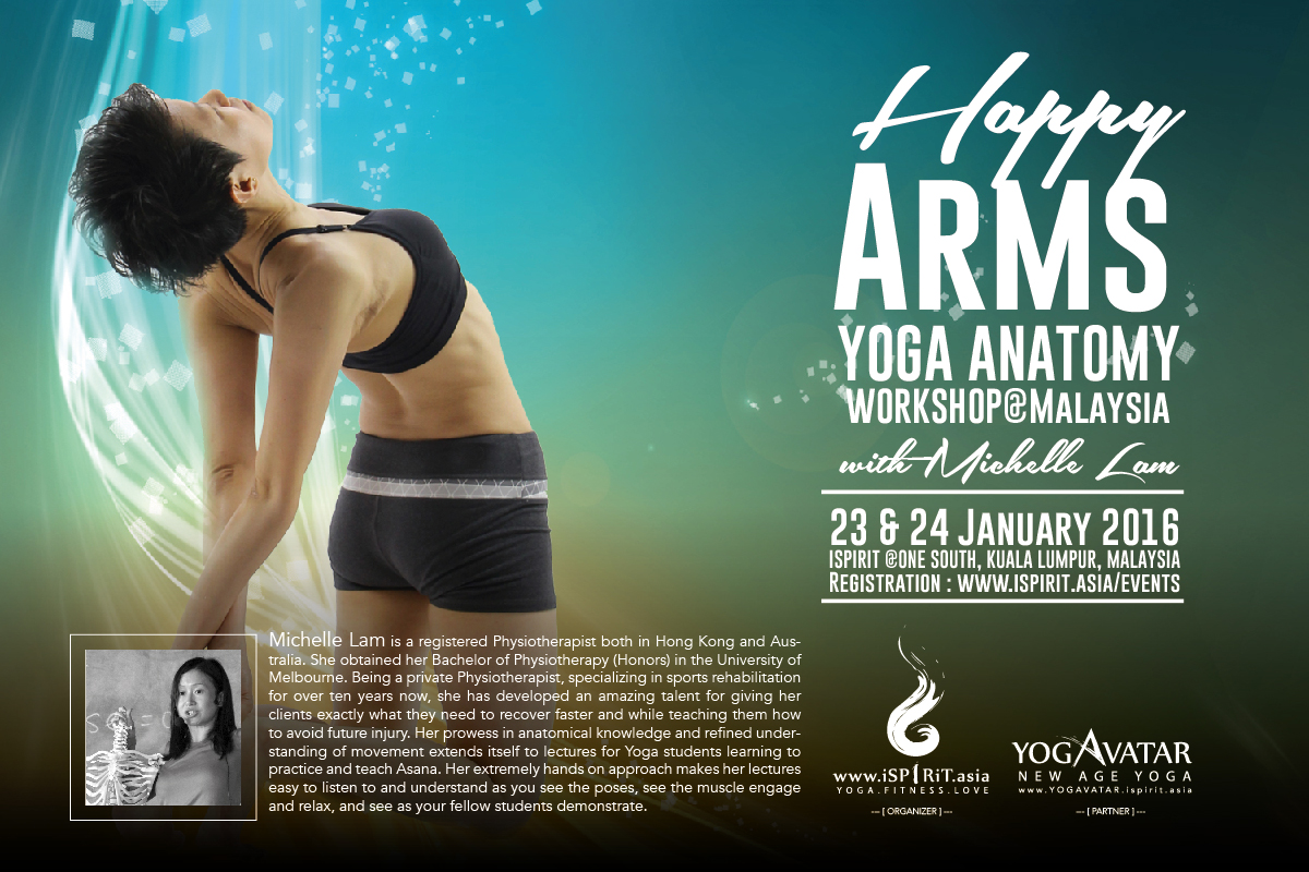 Happy Arms Yoga Anatomy Workshop With Michelle Lam Malaysia 2016