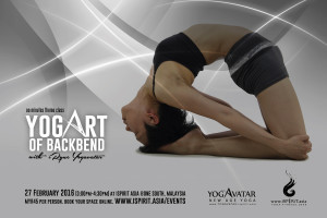 YogArt backbend with iryne in Malaysia