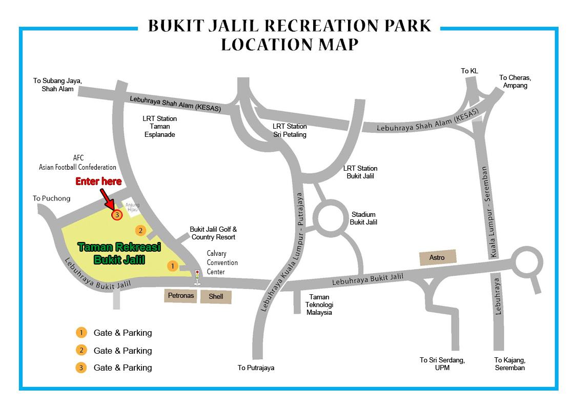 Map Bukit Jalil Recreation Park