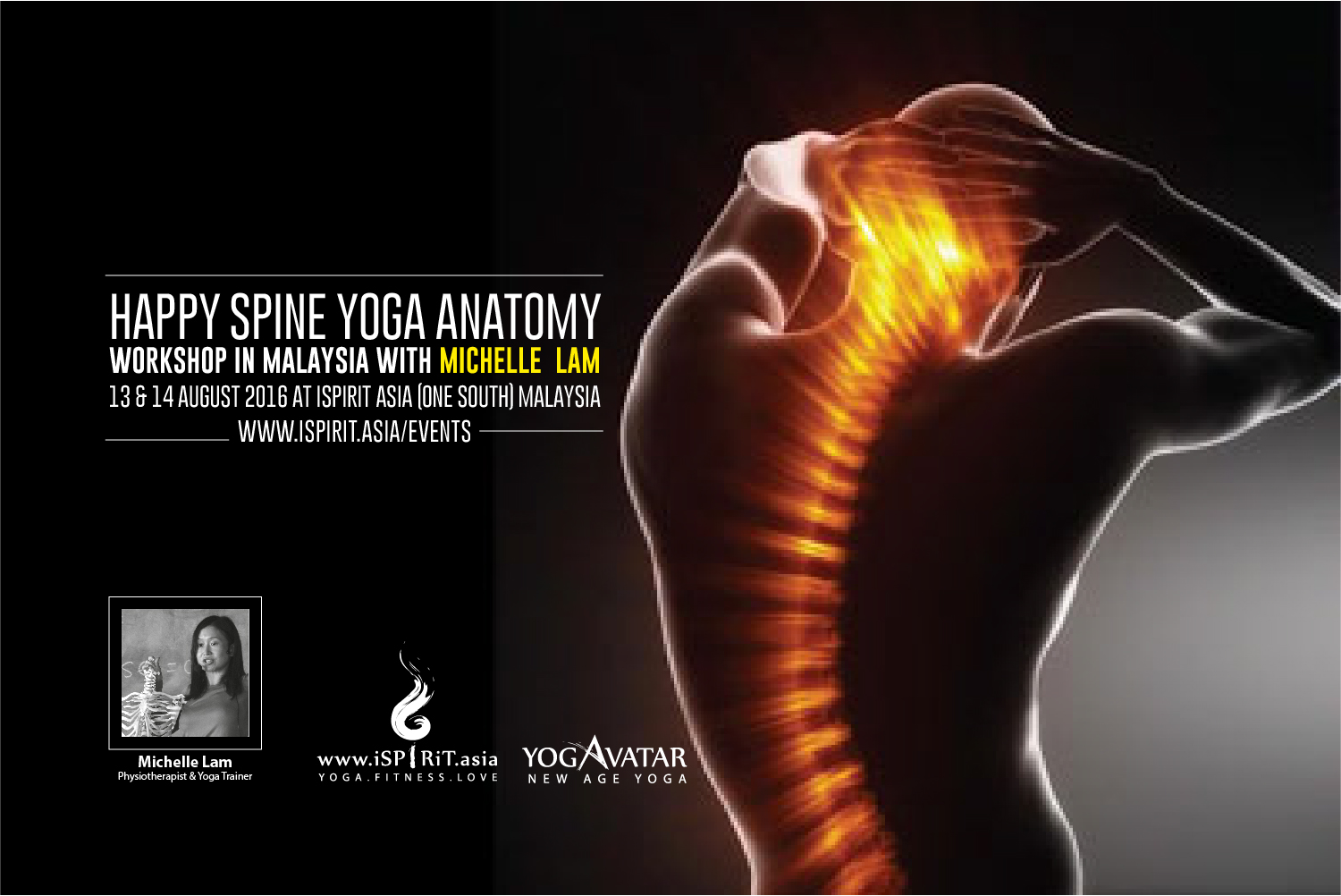 Happy Spine Yoga Anatomy Workshop With Michelle Lam