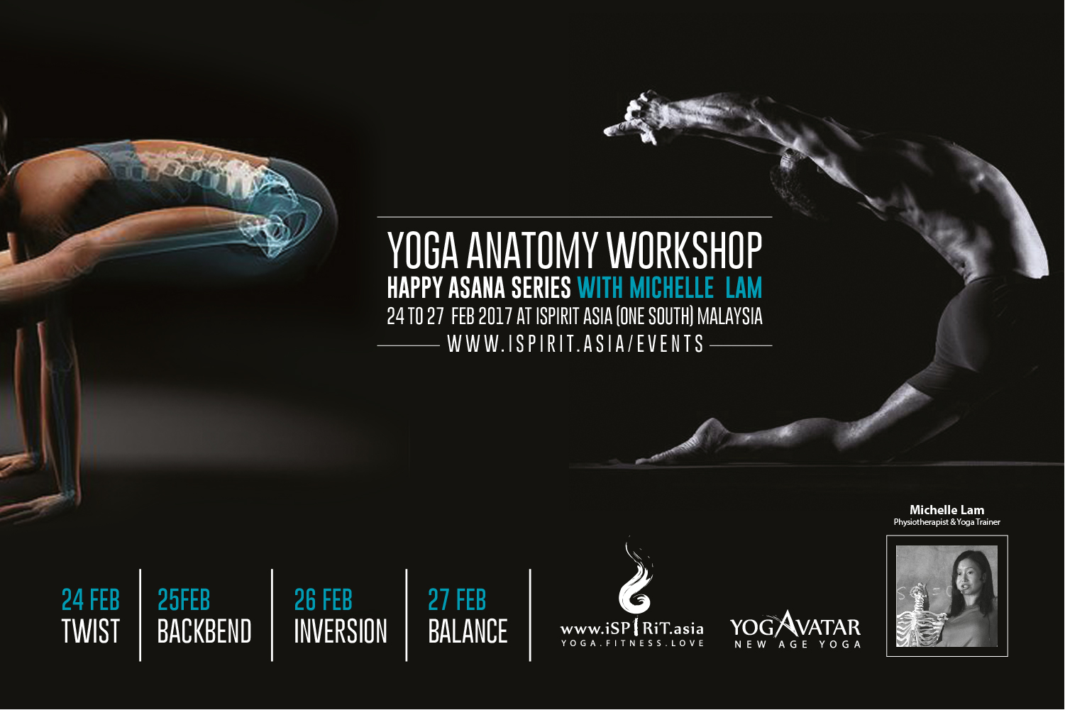 24~27 Feb 2017 @Malaysia: Yoga Anatomy Workshop HAPPY ASANA SERIES ...