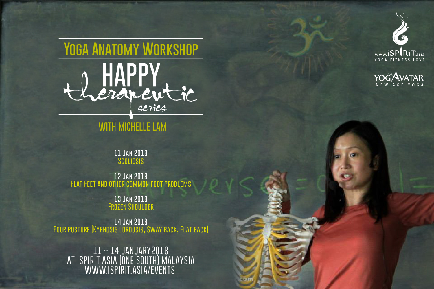 11~14 January 2018 @Malaysia: Yoga Anatomy Workshop- Happy ...