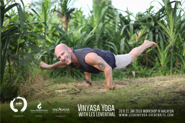 Vinyasa Yoga Workshop with Les Leventhal Kuala Lumpur Malaysia